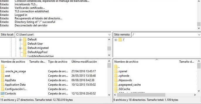 subir archivos filezilla 1