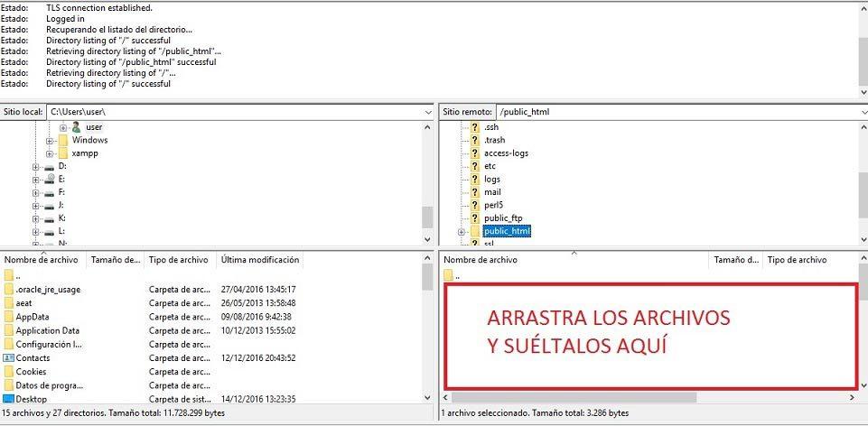 subir archivos filezilla 2