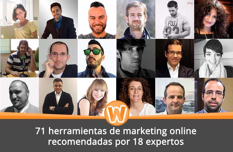 71 herramientas de marketing online recomendadas por 18 expertos