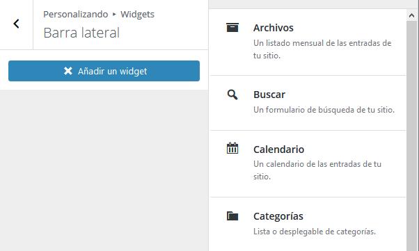 añadir widget personalizador