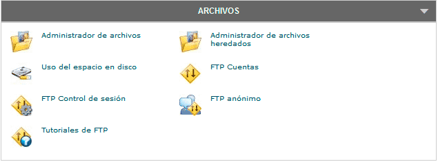 cpanel archivos