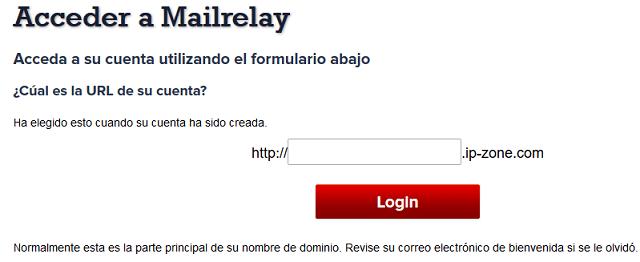 acceder a mailrelay