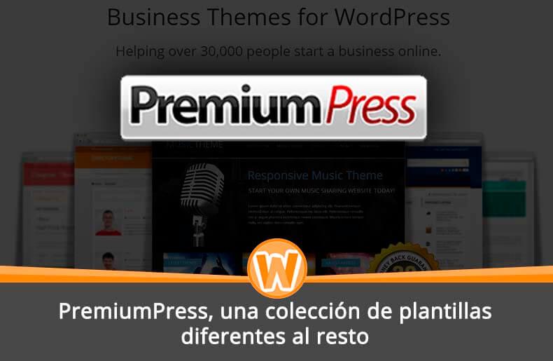 PremiumPress, una colección de plantillas diferentes al