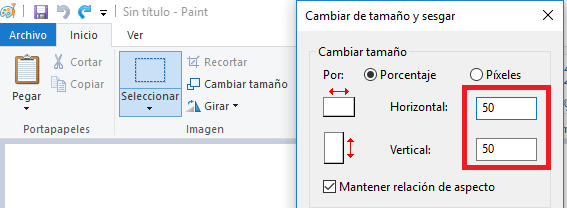 cambiar tamaño imagen