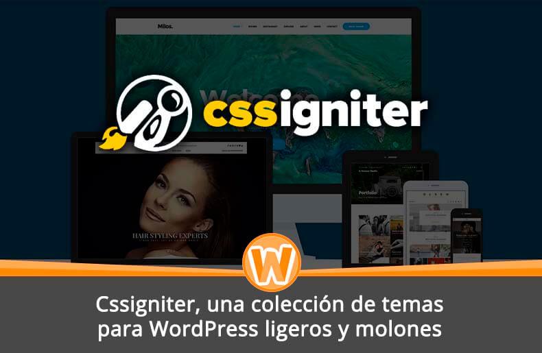 Cssigniter, una colección de temas para WordPress ligeros y molones