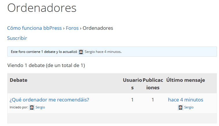 foro wordpress plugin