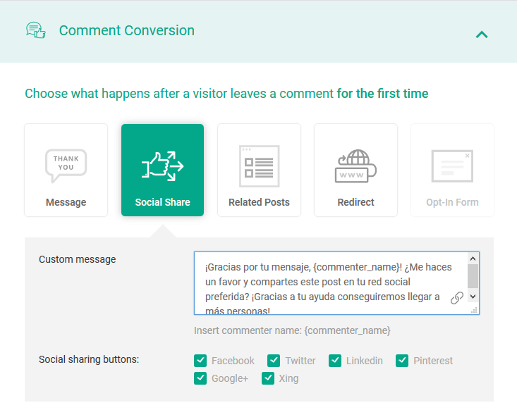 comment conversion