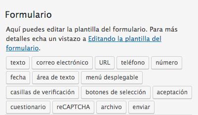 Campos formulario contact form 7