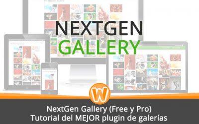 NextGen Gallery (Free y Pro) – Tutorial del MEJOR plugin de galerías