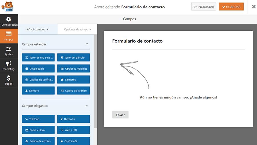 formulario de contacto wpforms