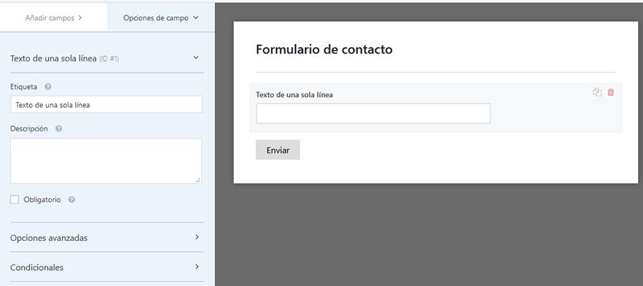 wpforms español