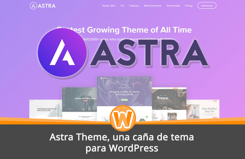 Astra Theme, una caña de tema para WordPress