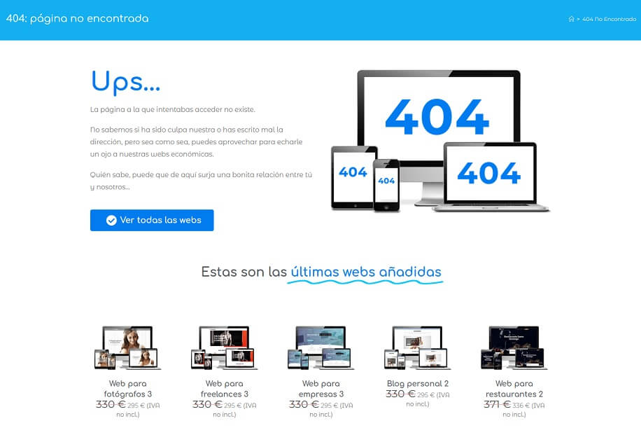 pagina 404 wordpress