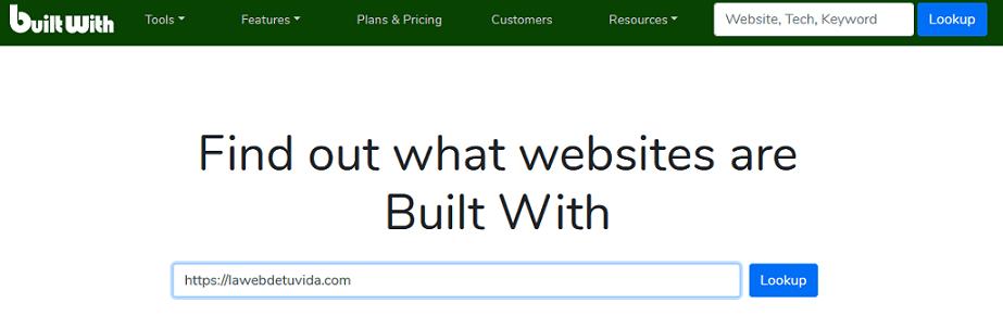 como saber como esta hecha una web
