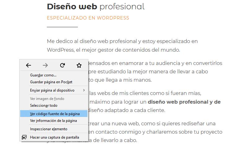 como saber que plantilla usa una web