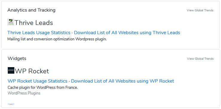 que plugins usa una web