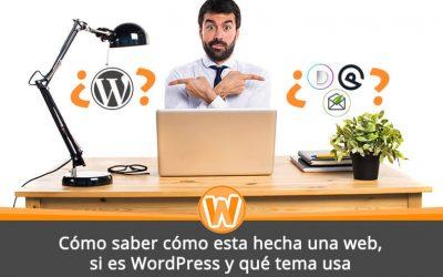 Cómo saber cómo esta hecha una web, si es WordPress y qué tema usa